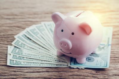 Finance, banking, saving money account