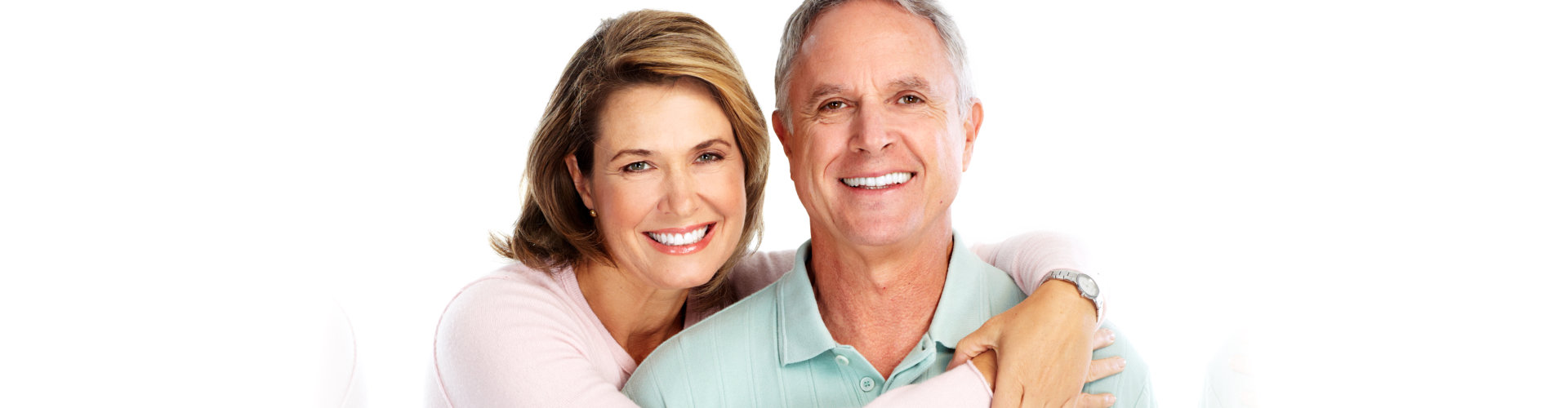 couple smiling with their beautiful teeth
